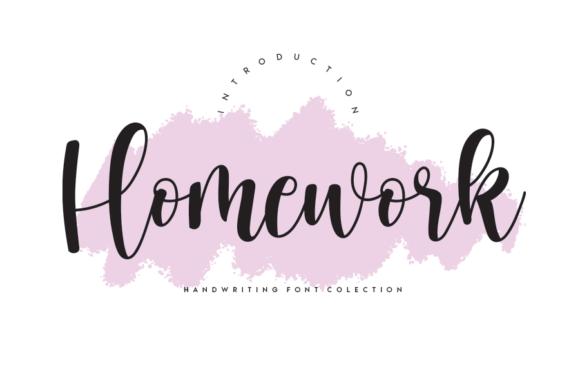 Homework Fonts