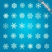 30 Snowflakes - Vector Set 10