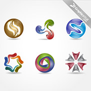 3D Logo Vector Elements - Set 09