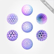 3D Polygonal Sphere Vector Set