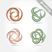 4 Vector Ribbon Knots