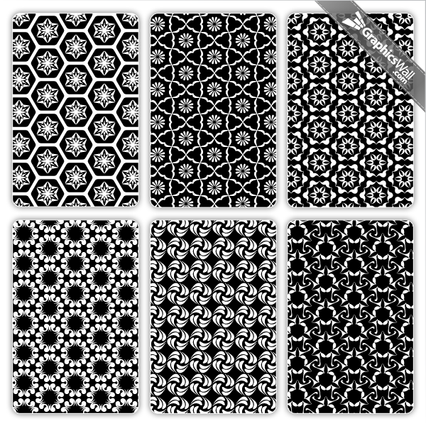 Black and White Vector Patterns
