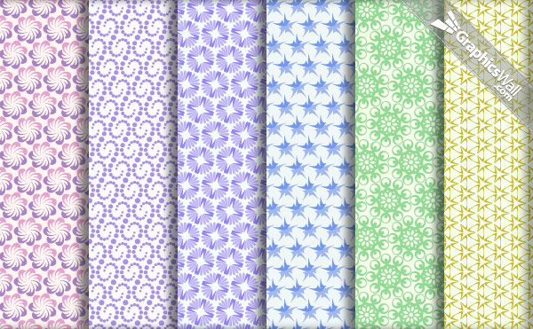 6 Vector Repeating Patterns
