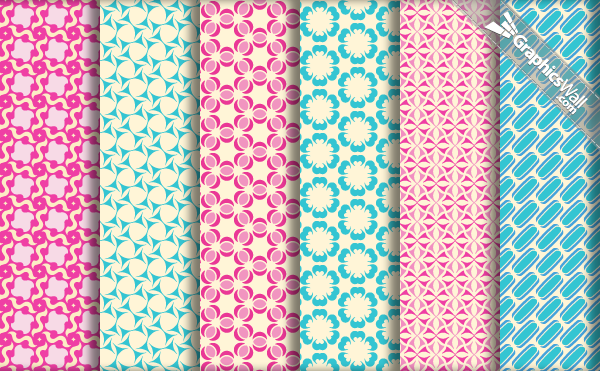 6 Tileable Vector Patterns - Set 07