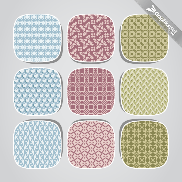 9 Fresh Seamless Vector Patterns