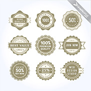 9 Free Vector Badges and Labels
