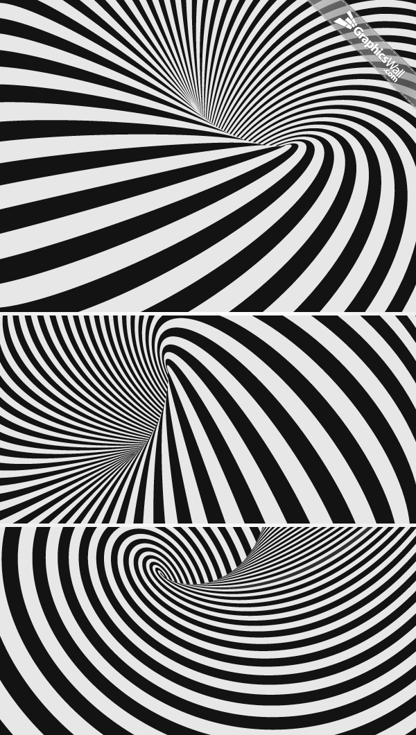 Abstract Spiral Striped Vector Backgrounds
