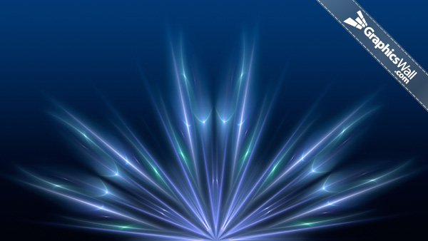 Blue Abstract Widescreen Background