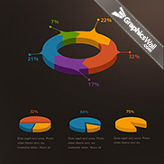 Crooked Stats Infographic Kit by PixelKit