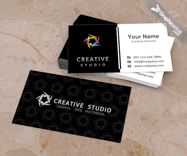 Free psd business card template graphicswall free psd business card template accmission