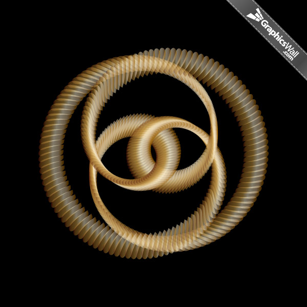 Golden Knot - Vector Art 02