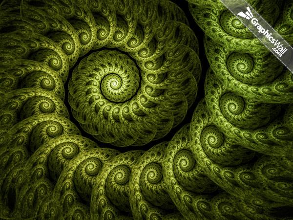 Green Spiral Fractal