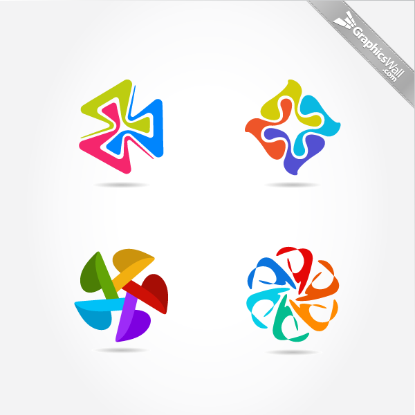 3-4-5-6 Logo Vector Elements Set 3