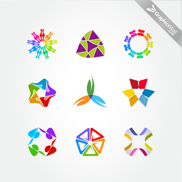 Free Colorful Logo Design Elements Set 05