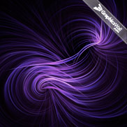 Purple Curly Abstract Background