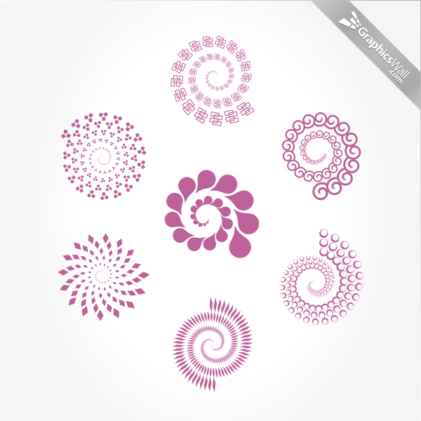 7 Spirals - Vector Set 04