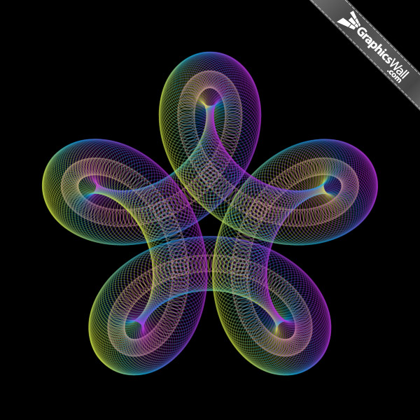Twist Circles - Vector Art 05